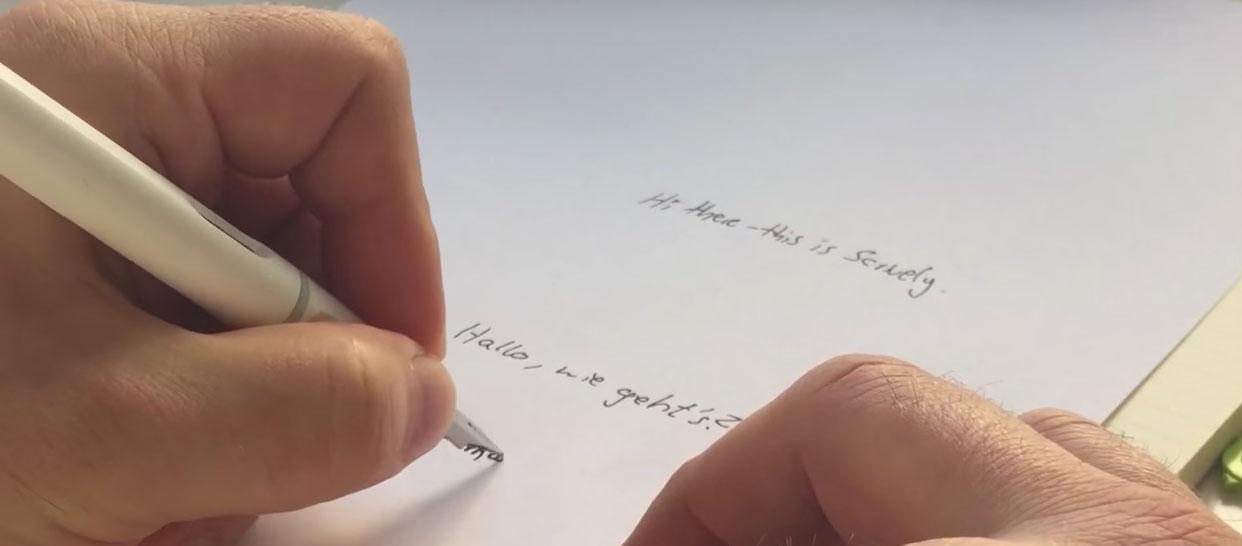 Estilográficas para zurdos que escriben bajo linea